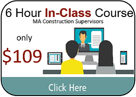 Massachusetts Construction Supervisor License Complete Continuing Education Package